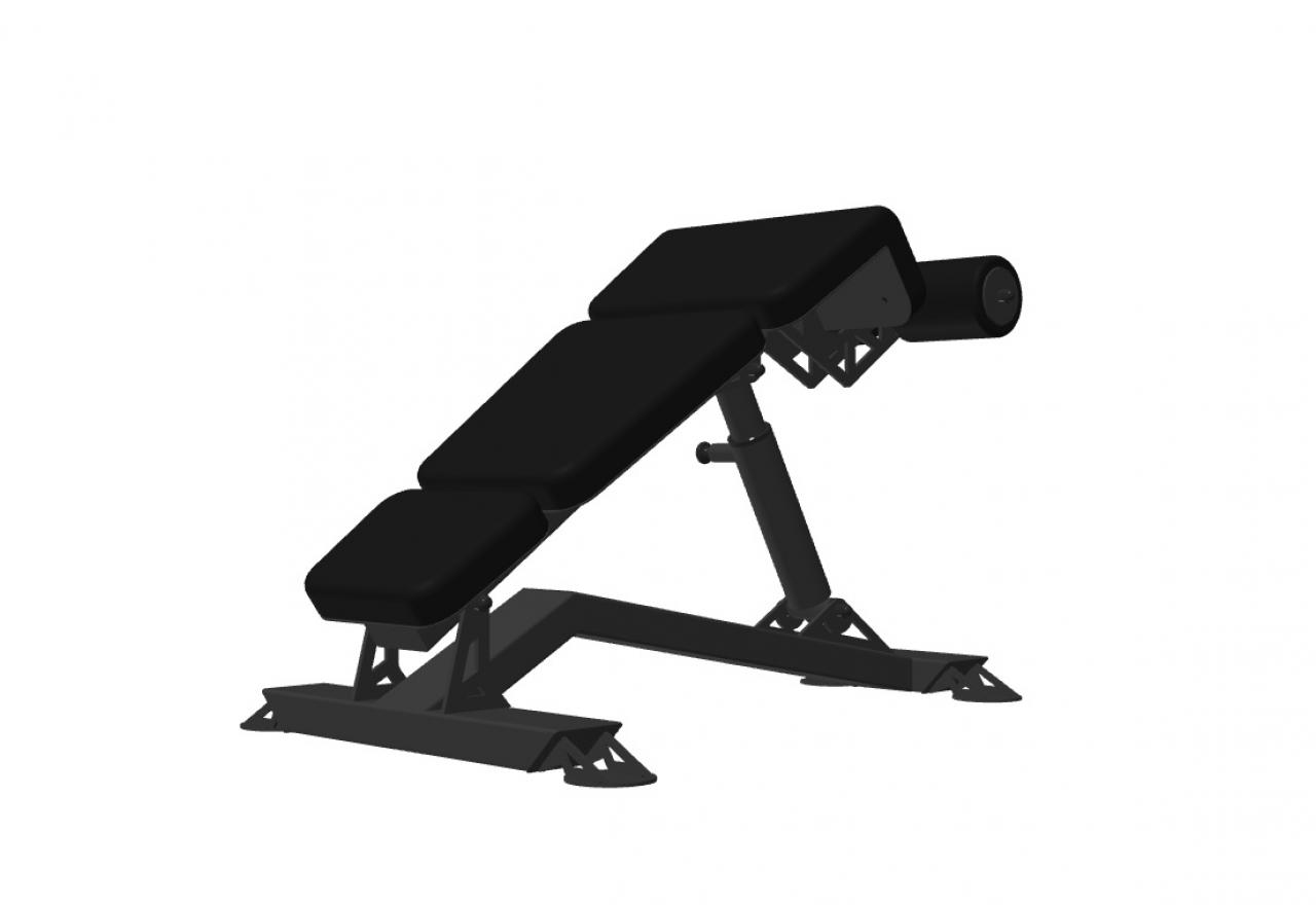 Adjustable Abdominal Bench 02